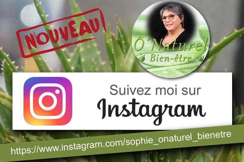 O'Naturel bien-être arrive sur Instagram